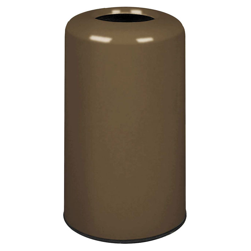 Rubbermaid FG1628LOPLBZ 15-gal Waste Receptacle - Fiberglass, Bronze