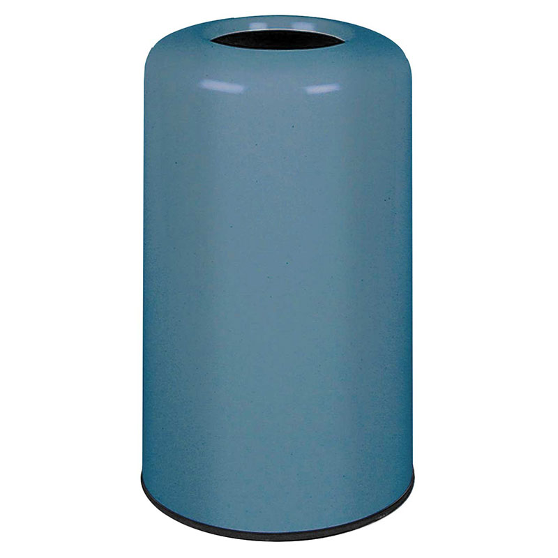 Rubbermaid FG1628LOPLCBL 15-gal Waste Receptacle - Fiberglass, Country Blue