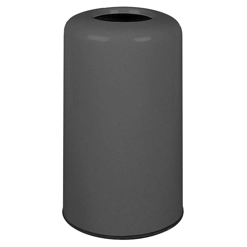 Rubbermaid FG1628LOPLCH 15-gal Waste Receptacle - Fiberglass, Charcoal