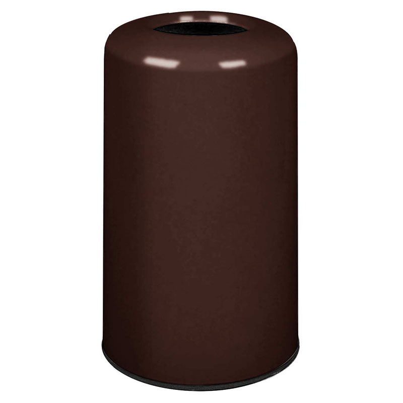 Rubbermaid FG1628LOPLDBN 15-gal Waste Receptacle - Fiberglass, Dark Brown