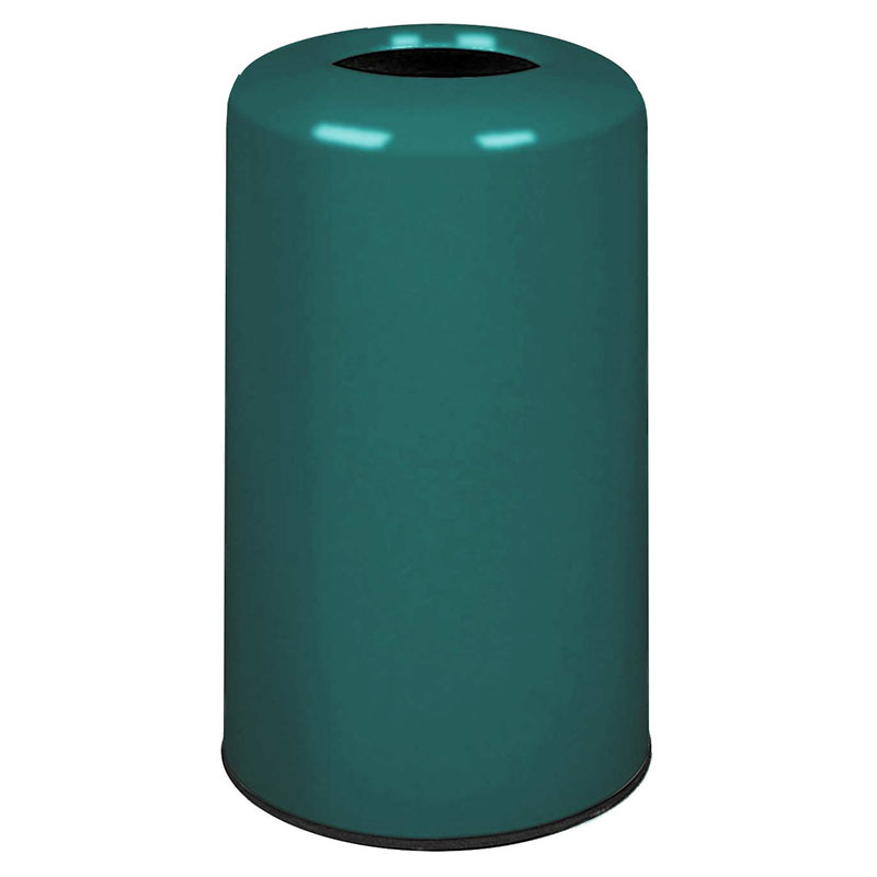 Rubbermaid FG1628LOPLFGN 15-gal Waste Receptacle - Fiberglass, Forest Green