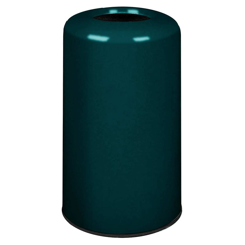 Rubbermaid FG1628LOPLHGN 15-gal Waste Receptacle - Fiberglass, Hunter Green