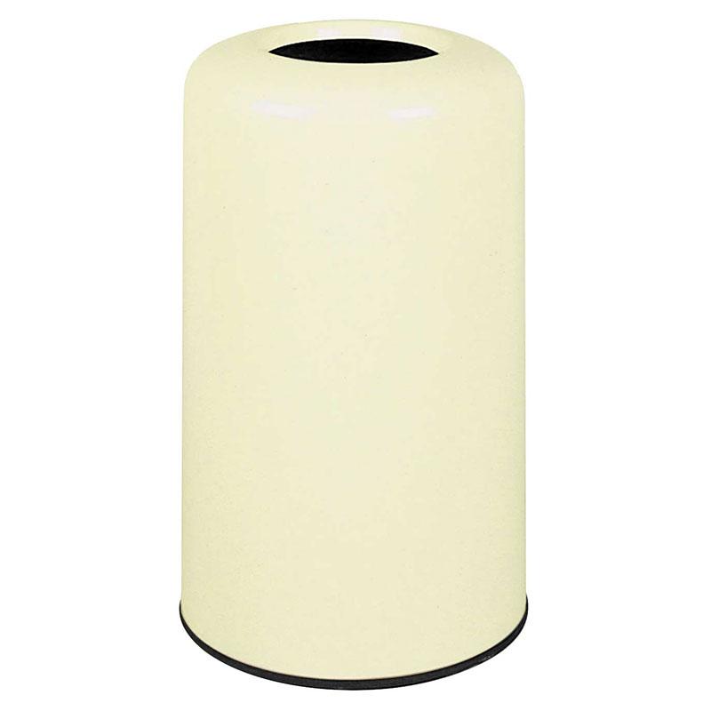 Rubbermaid FG1628LOPLIV 15-gal Waste Receptacle - Fiberglass, Ivory