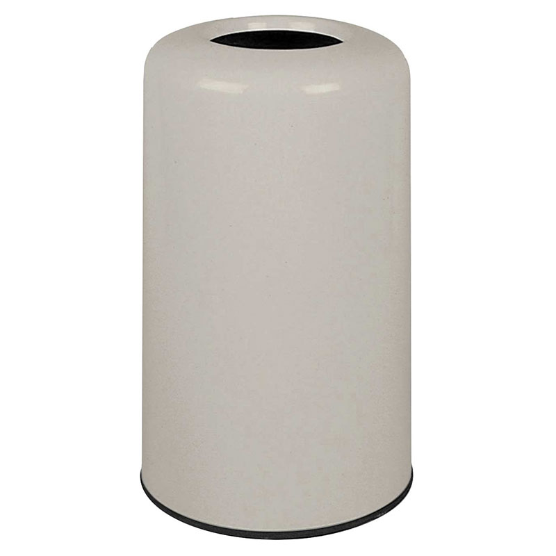 Rubbermaid FG1628LOPLLGR 15-gal Waste Receptacle - Fiberglass, Light Gray