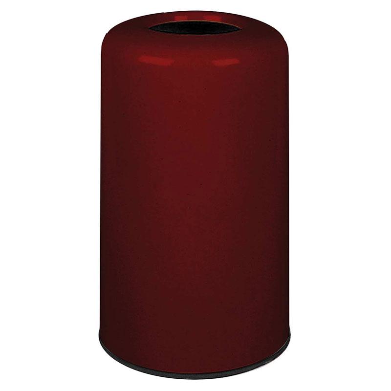 Rubbermaid FG1628LOPLMN 15-gal Waste Receptacle - Fiberglass, Maroon
