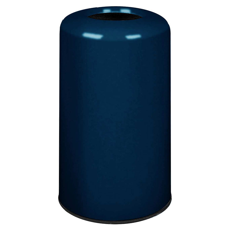 Rubbermaid FG1628LOPLNBL 15-gal Waste Receptacle - Fiberglass, Navy Blue
