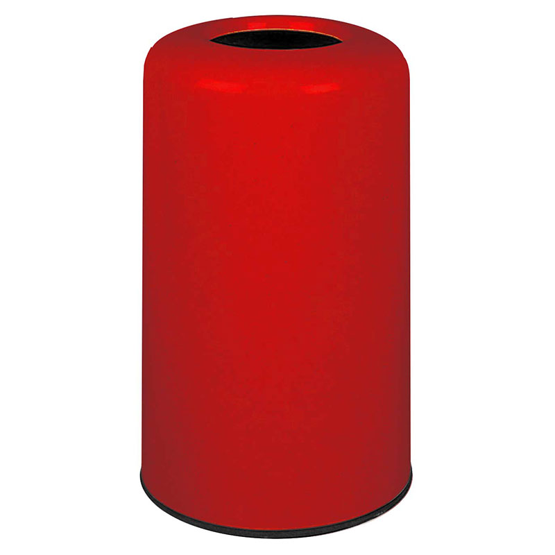 Rubbermaid FG1628LOPLRD 15-gal Waste Receptacle - Fiberglass, Red