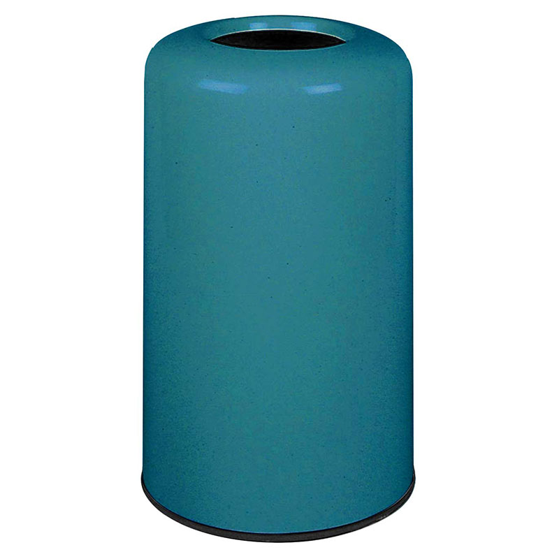 Rubbermaid FG1628LOPLSGN 15-gal Waste Receptacle - Fiberglass, Sea Green