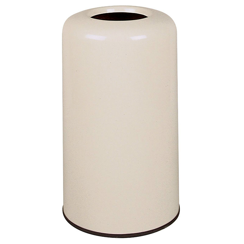 Rubbermaid FG1628LOPLTN 15-gal Waste Receptacle - Fiberglass, Tan