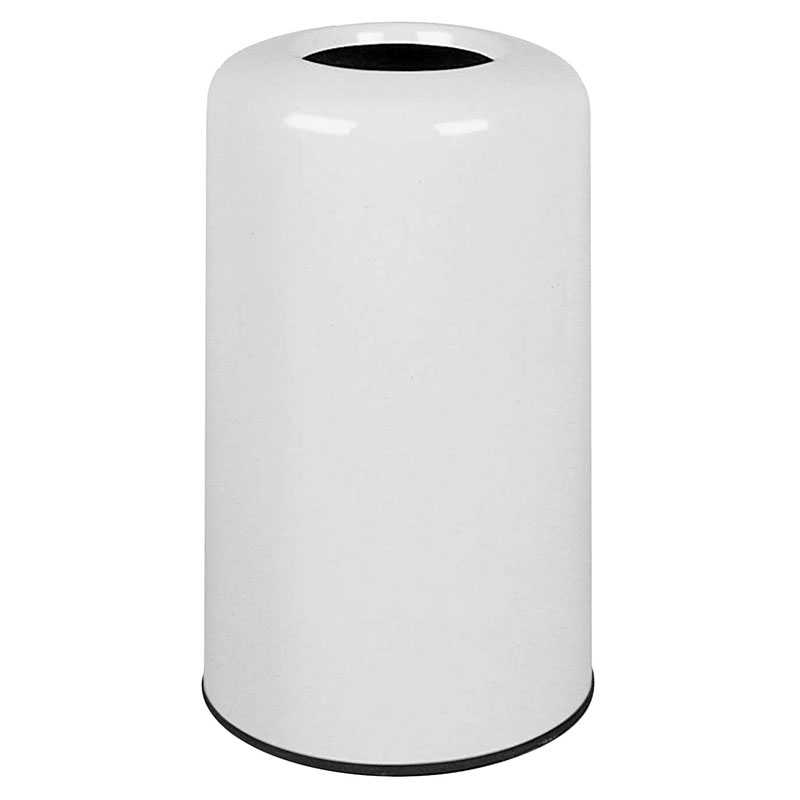 Rubbermaid FG1628LOPLWH 15-gal Waste Receptacle - Fiberglass, White