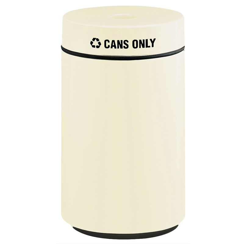 Rubbermaid FG1630CPLAL 15-gal Can Recycling Receptacle - Fiberglass, Almond