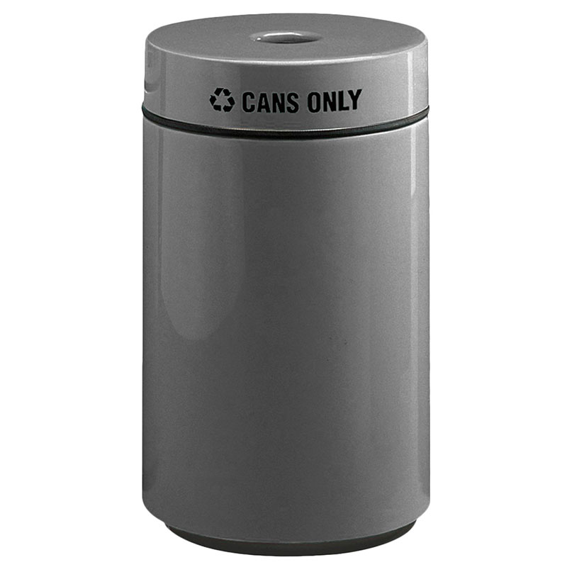Rubbermaid FG1630CPLCH 15-gal Can Recycling Receptacle - Fiberglass, Charcoal