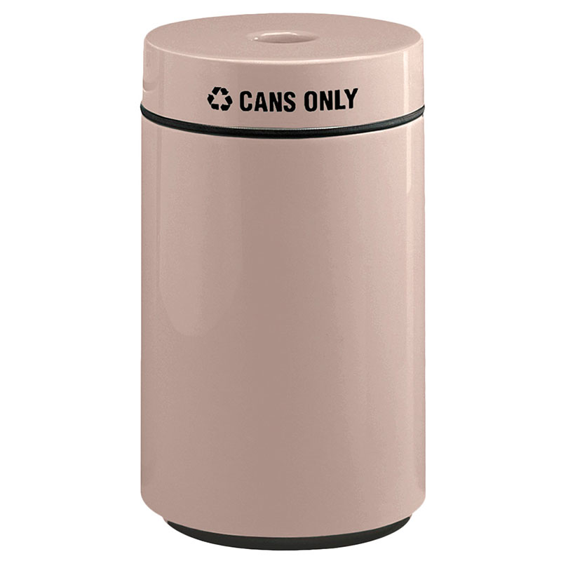 Rubbermaid FG1630CPLGE 15-gal Can Recycling Receptacle - Fiberglass, Greige