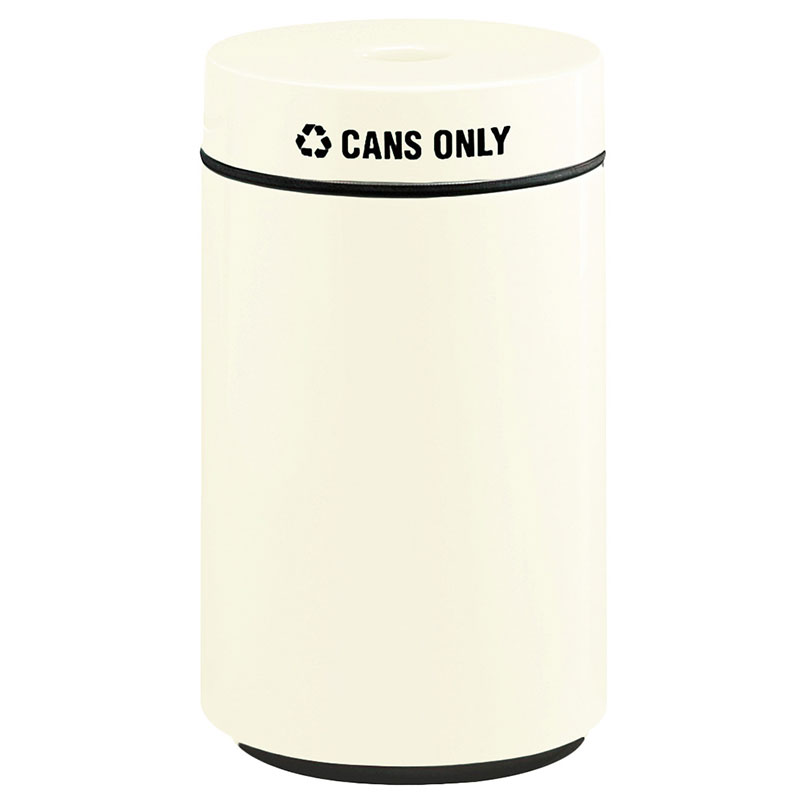 Rubbermaid FG1630CPLIV 15-gal Can Recycling Receptacle - Fiberglass, Ivory