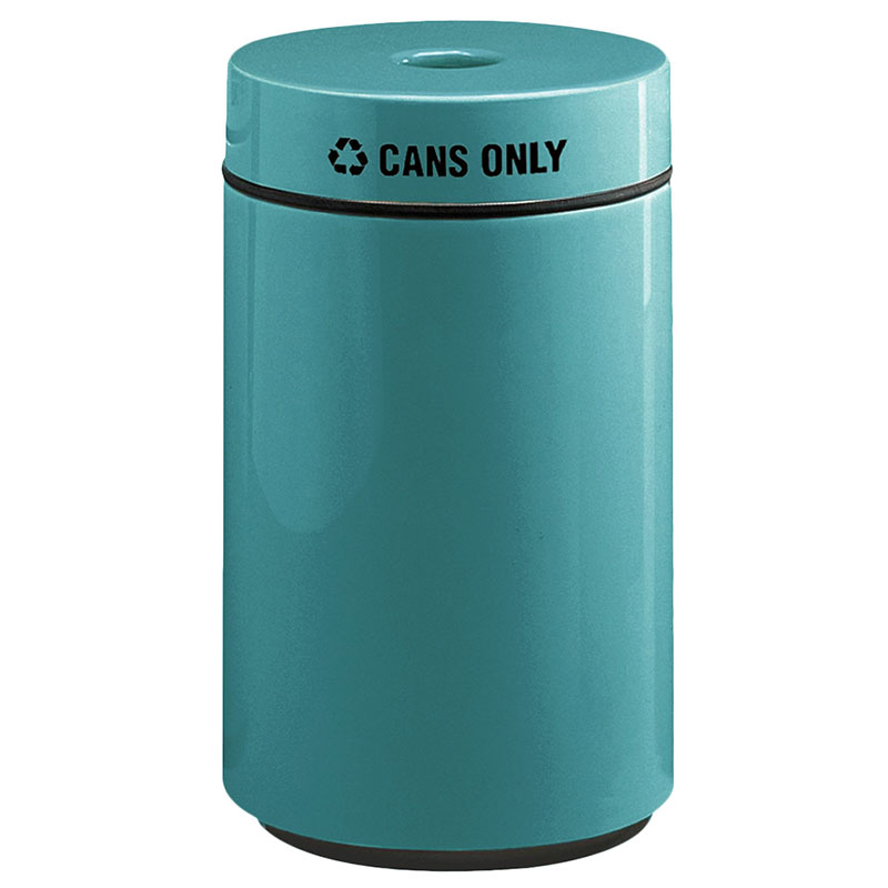 Rubbermaid FG1630CPLSGN 15-gal Can Recycling Receptacle - Fiberglass, Sea Green