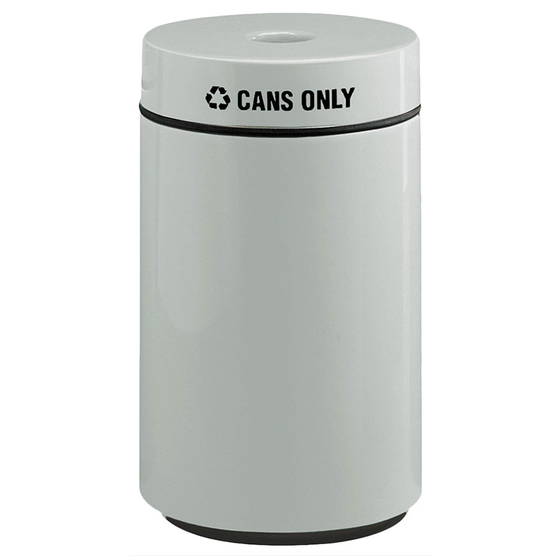 Rubbermaid FG1630CPLWMG 15-gal Can Recycling Receptacle - Fiberglass, Warm Gray