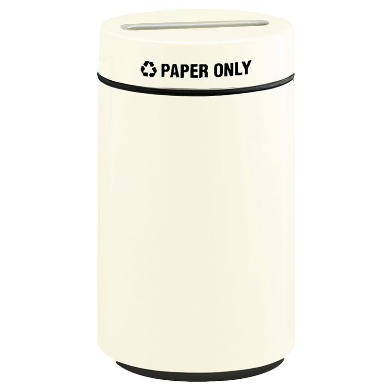 Rubbermaid FG1630PPLAL 15-gal Paper Recycling Receptacle - Fiberglass, Almond