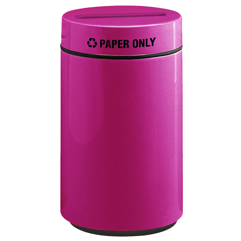 Rubbermaid FG1630PPLBPM 15-gal Paper Recycling Receptacle - Fiberglass, Bright Plum