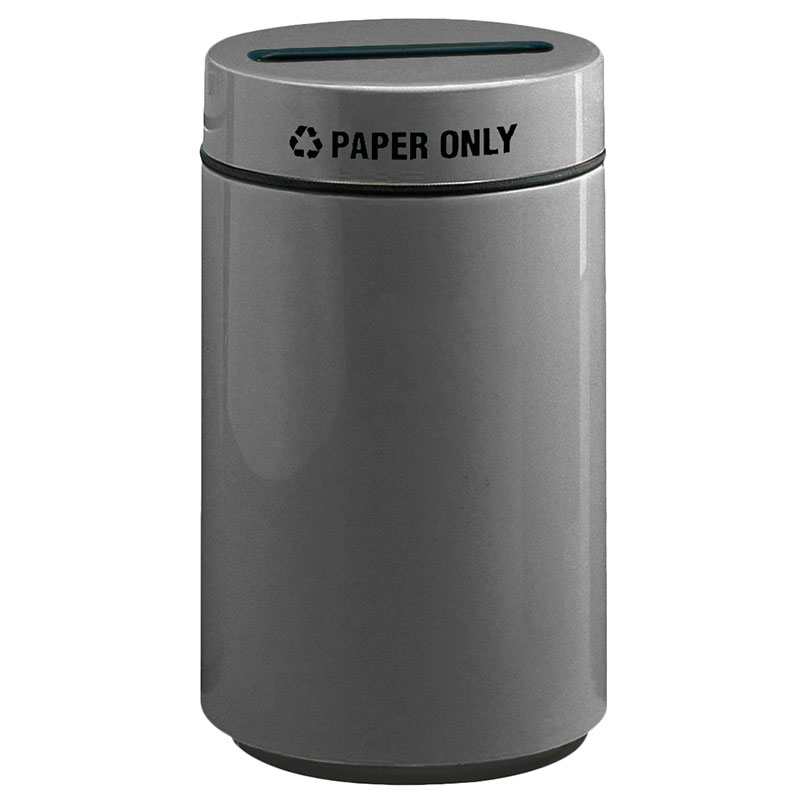 Rubbermaid FG1630PPLCH 15-gal Paper Recycling Receptacle - Fiberglass, Charcoal