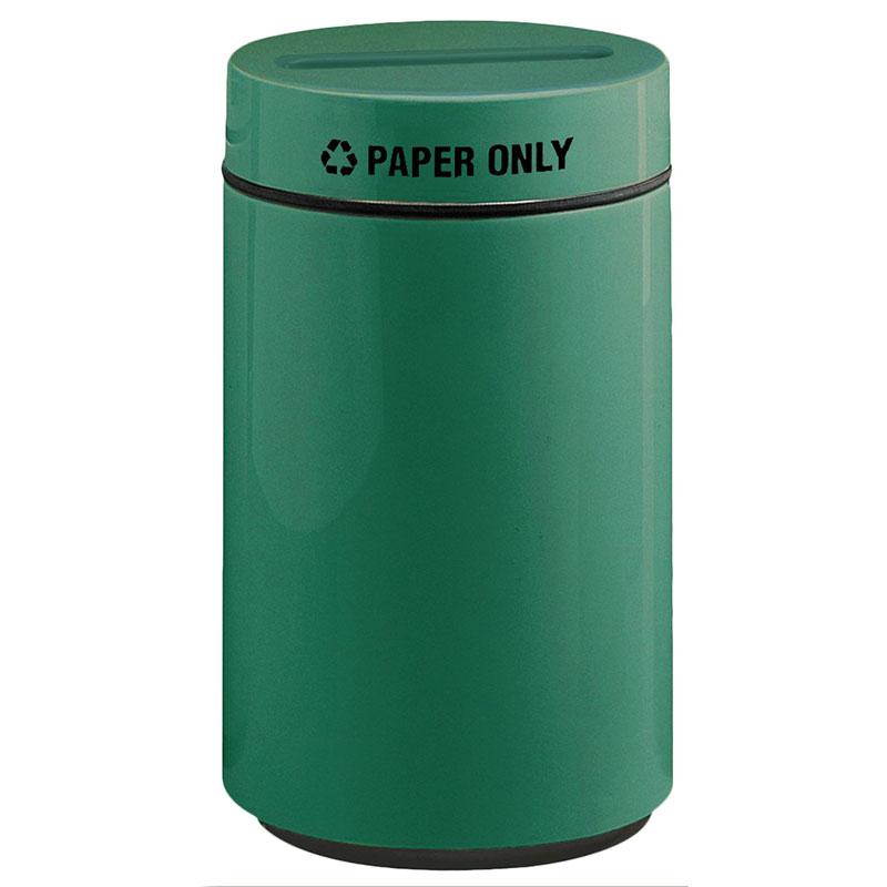 Rubbermaid FG1630PPLEGN 15-gal Paper Recycling Receptacle - Fiberglass, Empire Green