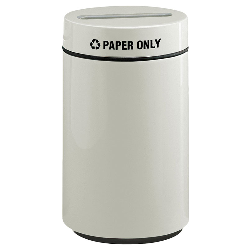 Rubbermaid FG1630PPLLGR 15-gal Paper Recycling Receptacle - Fiberglass, Light Gray