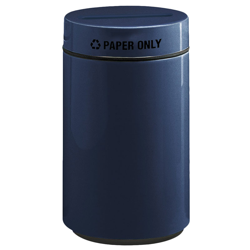 Rubbermaid FG1630PPLNBL 15-gal Paper Recycling Receptacle - Fiberglass, Navy Blue
