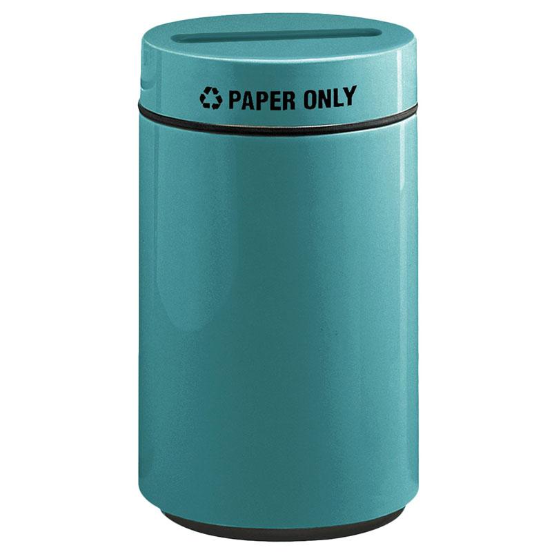 Rubbermaid FG1630PPLSGN 15-gal Paper Recycling Receptacle - Fiberglass, Sea Green