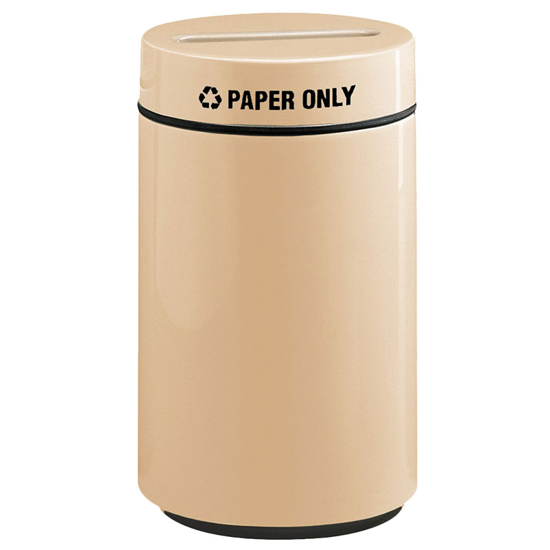 Rubbermaid FG1630PPLTN 15-gal Paper Recycling Receptacle - Fiberglass, Tan