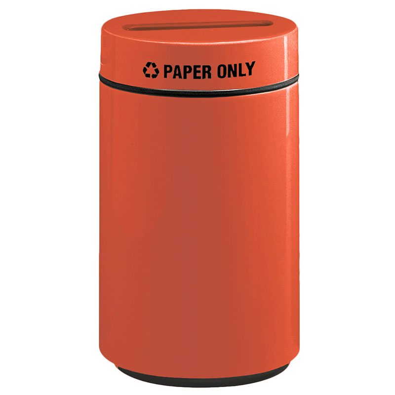 Rubbermaid FG1630PPLTRC 15-gal Paper Recycling Receptacle - Fiberglass, Terra Cotta