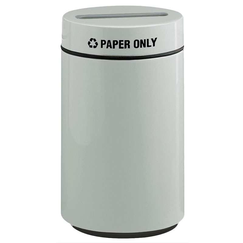 Rubbermaid FG1630PPLWMG 15-gal Paper Recycling Receptacle - Fiberglass, Warm Gray