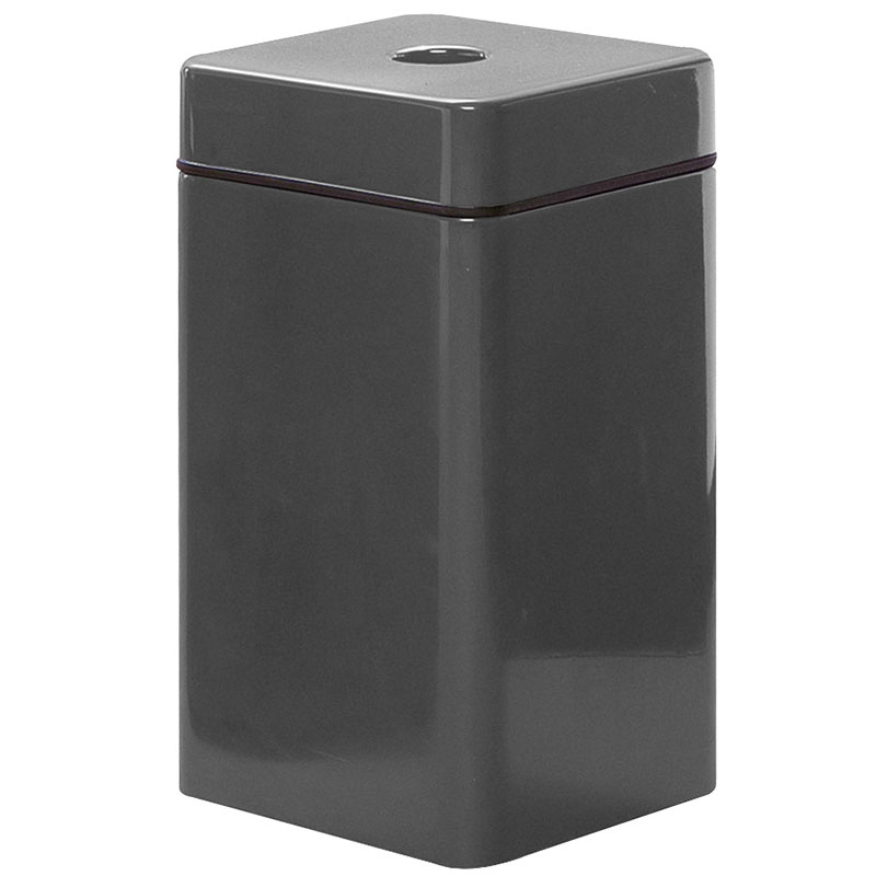 Rubbermaid FG1630SQCPLCH 20-gal Can Recycling Receptacle - Square, Fiberglass, Charcoal
