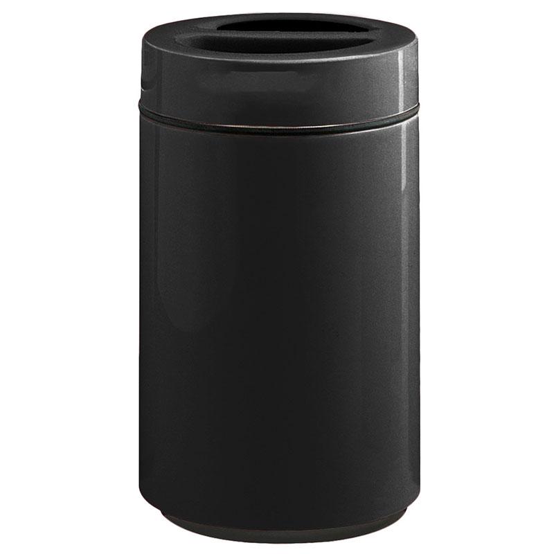Rubbermaid FG1630SUTPLBK 32-gal Ash/Trash Receptacle - Sand Urn Top, Fiberglass, Black