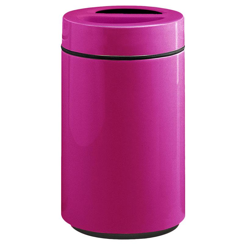 Rubbermaid FG1630SUTPLBPM 32-gal Ash/Trash Receptacle - Sand Urn Top, Fiberglass, Bright Plum