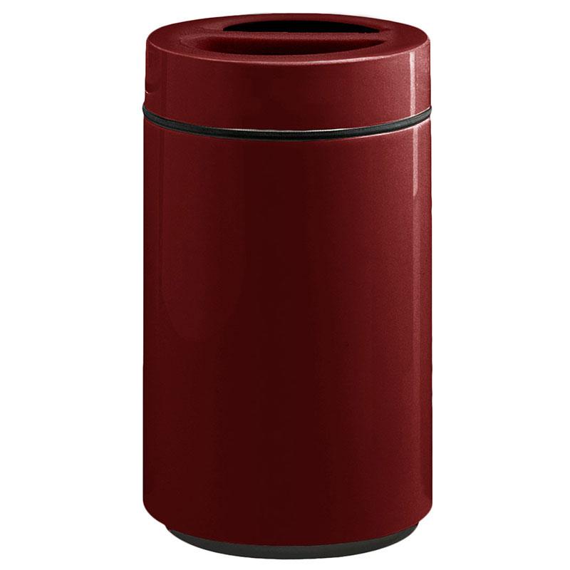 Rubbermaid FG1630SUTPLBYW 32-gal Ash/Trash Receptacle - Sand Urn Top, Fiberglass, Burgundy Wine