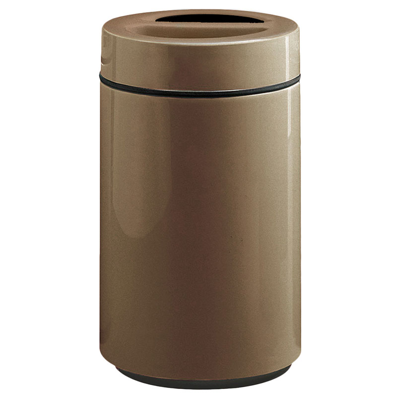 Rubbermaid FG1630SUTPLBZ 32-gal Ash/Trash Receptacle - Sand Urn Top, Fiberglass, Bronze