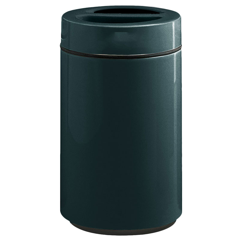 Rubbermaid FG1630SUTPLHGN 32-gal Ash/Trash Receptacle - Sand Urn Top, Fiberglass, Hunter Green