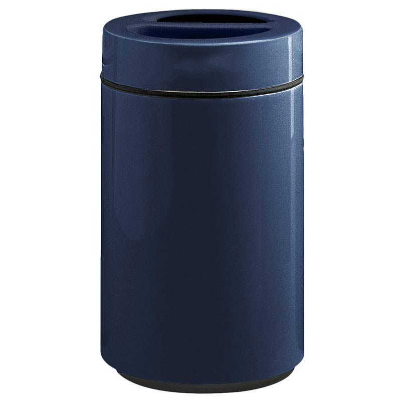 Rubbermaid FG1630SUTPLNBL 32-gal Ash/Trash Receptacle - Sand Urn Top, Fiberglass, Navy Blue