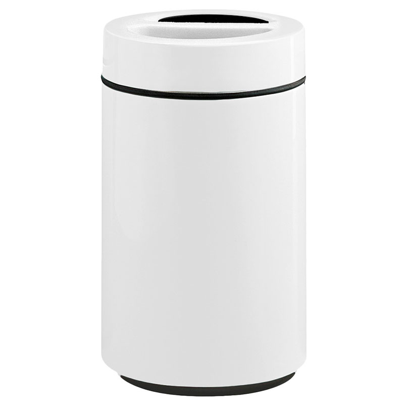Rubbermaid FG1630SUTPLWH 32-gal Ash/Trash Receptacle - Sand Urn Top, Fiberglass, White
