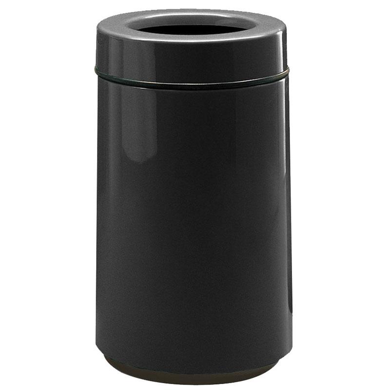 Rubbermaid FG1630TPLBK 15-gal Waste Receptacle - Open Top, Fiberglass, Black