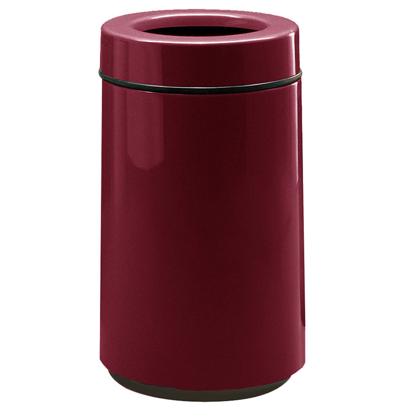 Rubbermaid FG1630TPLBYW 15-gal Waste Receptacle - Open Top, Fiberglass, Burgundy Wine