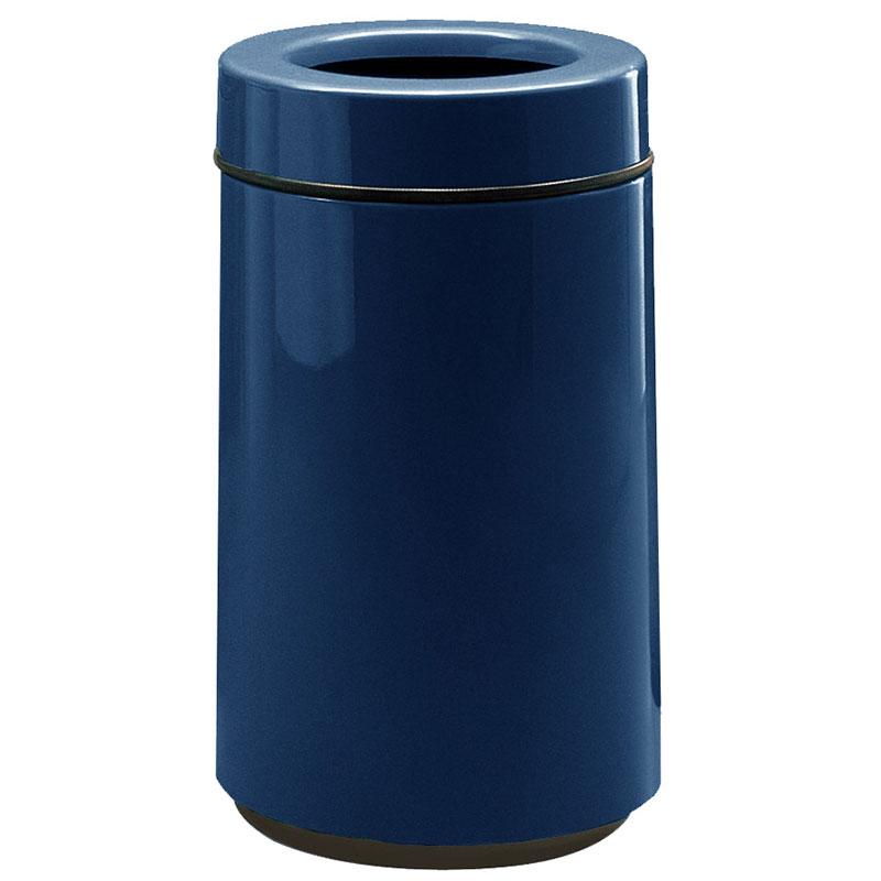 Rubbermaid FG1630TPLNBL 15-gal Waste Receptacle - Open Top, Fiberglass, Navy Blue