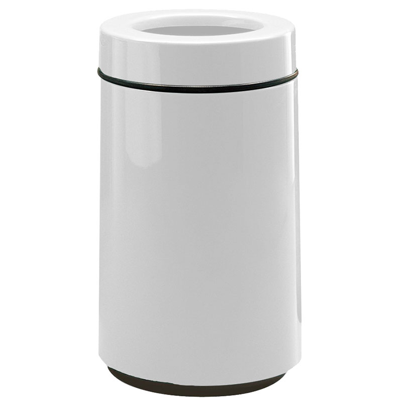 Rubbermaid FG1630TPLWH 15-gal Waste Receptacle - Open Top, Fiberglass, White
