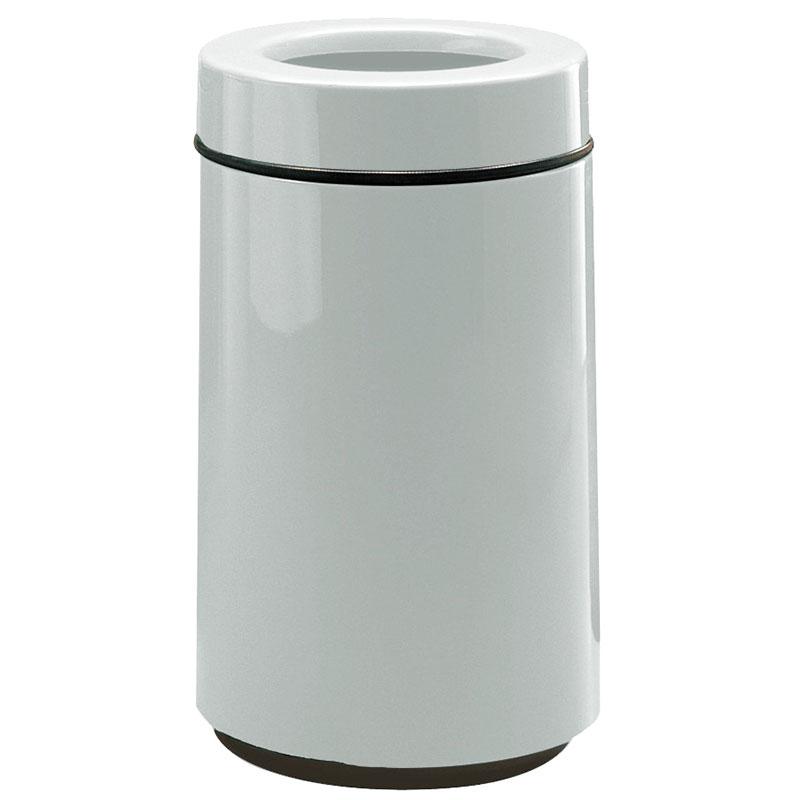 Rubbermaid FG1630TPLWMG 15-gal Waste Receptacle - Open Top, Fiberglass, Warm Gray