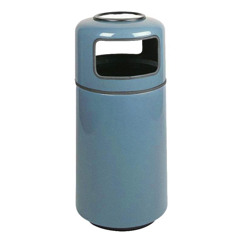 Rubbermaid FG1639SUPLCBL 15-gal Ash/Trash Receptacle - Sand Urn Top, Fiberglass, Country Blue