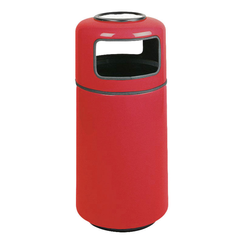 Rubbermaid FG1639SUPLRD 15-gal Ash/Trash Receptacle - Sand Urn Top, Fiberglass, Red