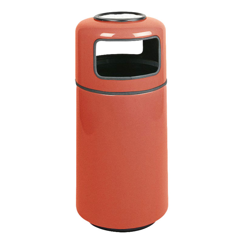 Rubbermaid FG1639SUPLTRC 15-gal Ash/Trash Receptacle - Sand Urn Top, Fiberglass, Terra Cotta
