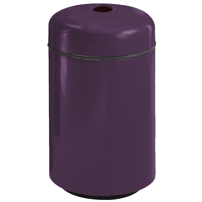 Rubbermaid FG1829CPLEGP 20-gal Can Recycling Receptacle - Round, Fiberglass, Eggplant
