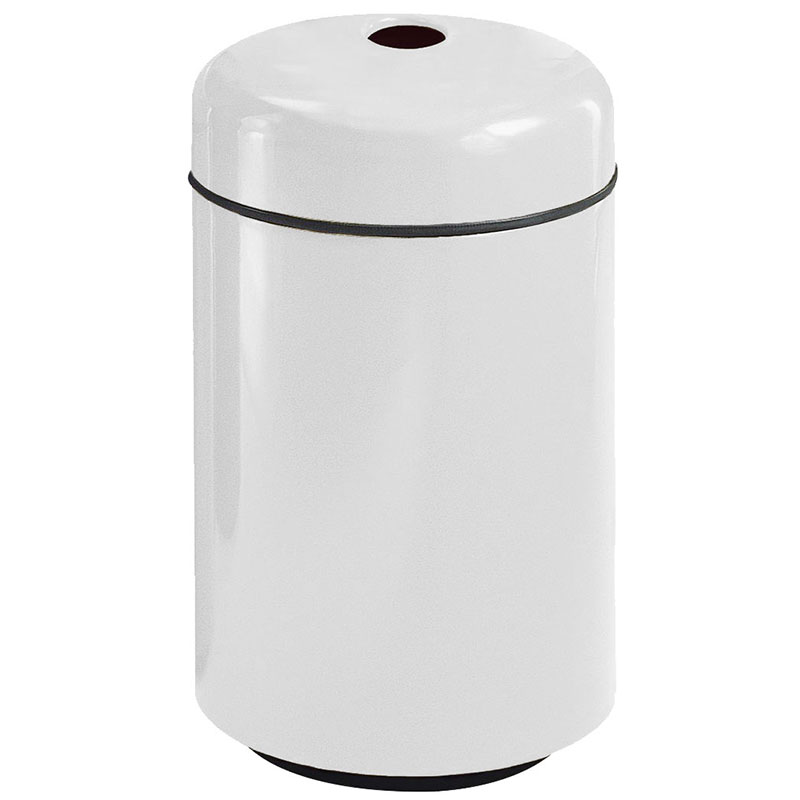 Rubbermaid FG1829CPLWH 20-gal Can Recycling Receptacle - Round, Fiberglass, White