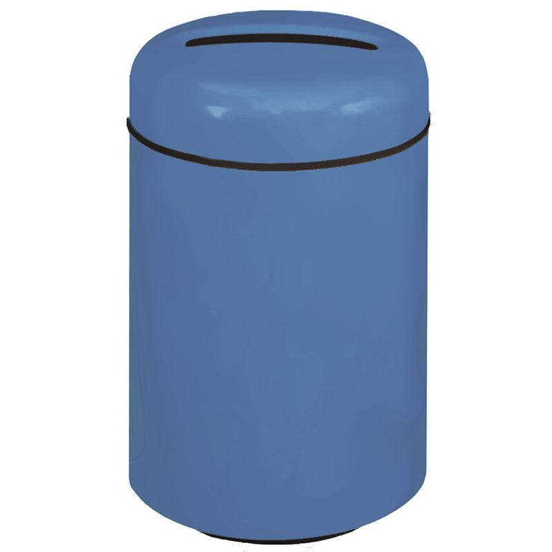 Rubbermaid FG1829PPLBB 20-gal Paper Recycling Receptacle - Round, Fiberglass, Blackberry