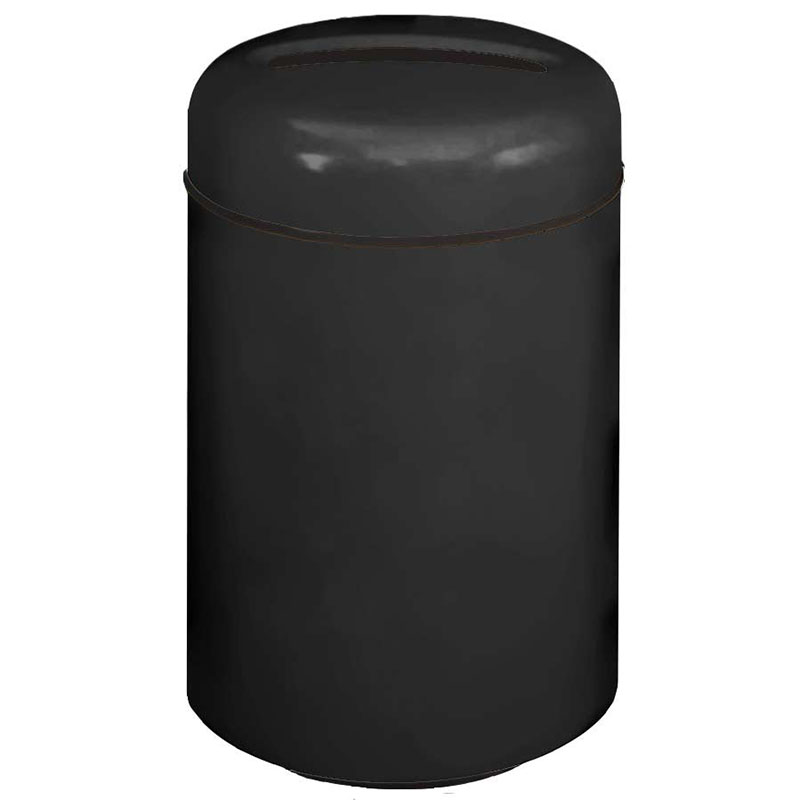 Rubbermaid FG1829PRBBK 20-gal Paper Recycling Receptacle - Fiberglass, Black